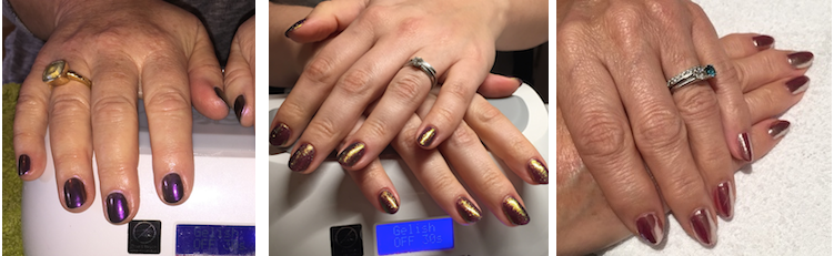 Chrome and metalic nails